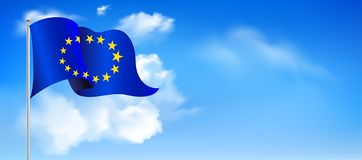 Europe Day. Annual public holiday in May. royalty free illustration