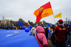 Europe day in Bucharest, Romania Royalty Free Stock Photo