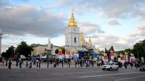 Europe Day celebration in Kiev, Ukraine. stock footage