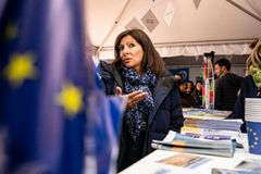 Europe Day 2019 in front of Paris City Hall stock images