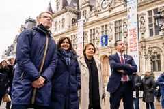 Europe Day 2019 in front of Paris City Hall stock photography