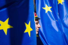 Europe Day in Kyiv stock image