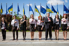 Europe Day in Kyiv Royalty Free Stock Images