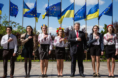 Europe Day in Kyiv Stock Images