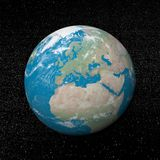 Europe on earth - 3D render Royalty Free Stock Image