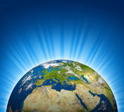 Europe earth planet Royalty Free Stock Images