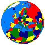 Europe on Earth political map Royalty Free Stock Photos