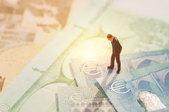 Europe economy, financial, investment or currency exchange conce Stock Image