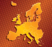 Europe EU map with country borders Royalty Free Stock Photography