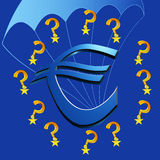 Europe and the Euro crisis Royalty Free Stock Images