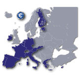 Europe and euro members Stock Photography