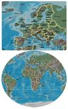 Europe and Europe Africa map Royalty Free Stock Images