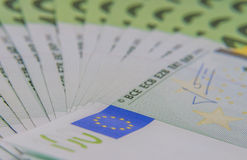 Europe euros banknote of hundreds Royalty Free Stock Images