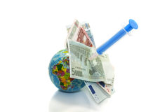 Europe financial injection Stock Images