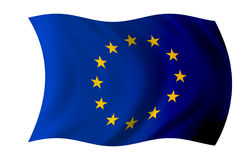 Europe flag on. White background royalty free illustration