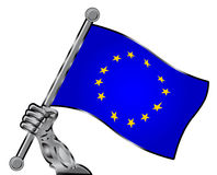 Europe flag Royalty Free Stock Photography