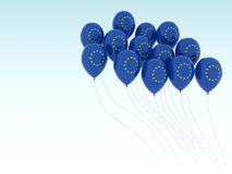 Europe flag balloons Royalty Free Stock Image