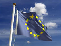 Europe flag (with clipping path) stock images