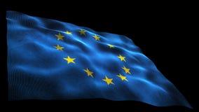 Europe flag stock video footage