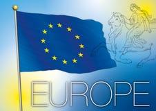 Europe flag and symbol Royalty Free Stock Photo