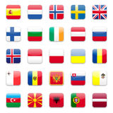Europe flags b stock illustration