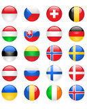 Europe flags buttons, part two. Glossy Europe flags buttons, part two Stock Image