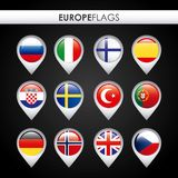 Europe flags design Royalty Free Stock Image