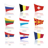 Europe flags, vector Royalty Free Stock Images