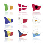 Europe flags, vector Stock Image