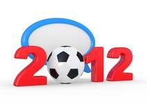 Europe on football 2012 Ukraine Royalty Free Stock Image