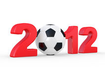 Europe on football 2012 Ukraine Royalty Free Stock Photo