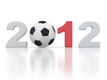 Europe on football 2012 Ukraine Stock Image