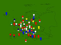 Europe Football Map Royalty Free Stock Images