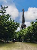 Europe France Paris beautiful view eiffel tower royalty free stock photo