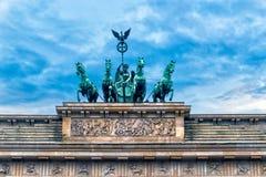 Europe. Germany. Quadriga on Top of the Brandenburg Gate in Berlin.  stock photography