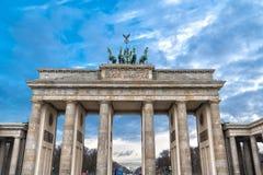Europe. Germany. Quadriga on Top of the Brandenburg Gate in Berlin.  stock photo