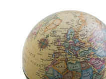 Europe on the globe. Map stock photos