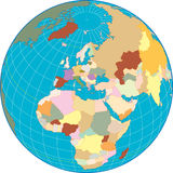 Europe on a Globe Royalty Free Stock Photography