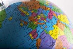 Europe on globe Stock Photos