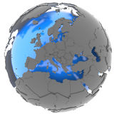 Europe on the globe Royalty Free Stock Photography