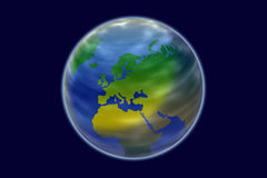 Europe globe from space simulation Stock Image