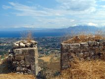 Greece,beautiful view from the walls stock photos