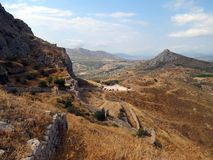 Corinth,view from the ancient fortress royalty free stock photo