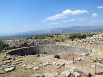 Greece, Mycenae, ancient stones keep the memory royalty free stock images
