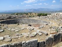 Greece, Mycenae, the Central part of the settlement royalty free stock images