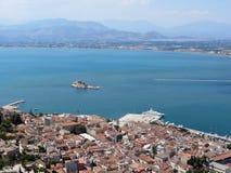 Greece,Nafplion, view of the Argolic Gulf royalty free stock photography