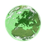 Europe on green Earth Royalty Free Stock Photo