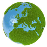Europe on green planet Royalty Free Stock Image