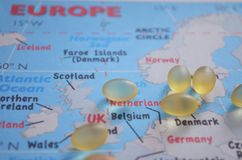 Europe healthcare, close up royalty free stock photos