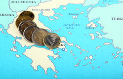 Europe helps Greece Royalty Free Stock Photo
